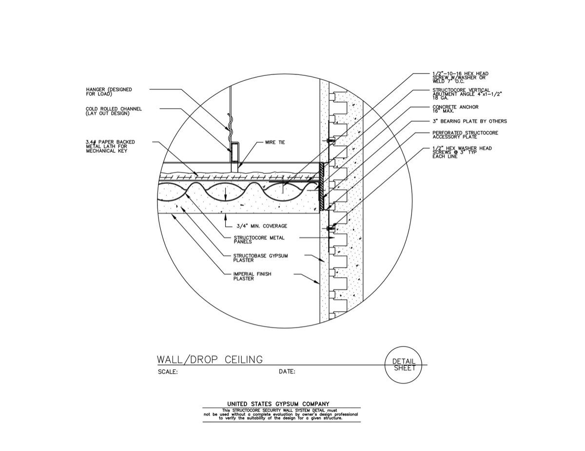 Usg Design Studio 09 21 16 73 333 Structocore Wall Drop